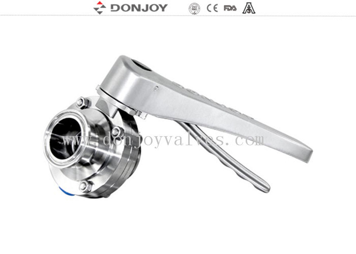 Manual clamped sanitary buttterfly valves with stainless steel handle