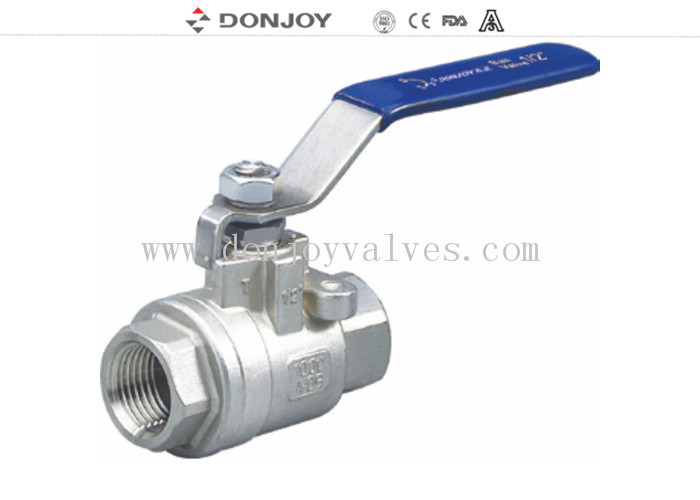 FDA / ISO SS304 Two Peice Ball valve With  Female Thread Connection