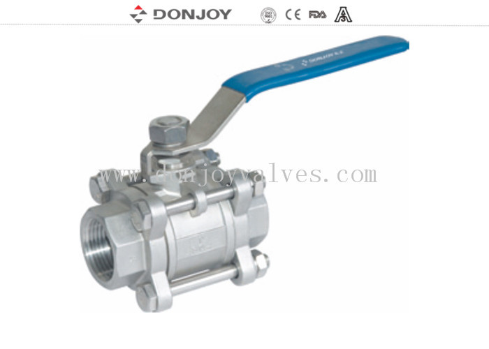 Stainless steel 3pcs industrial full port Ball valve With  Female Thread